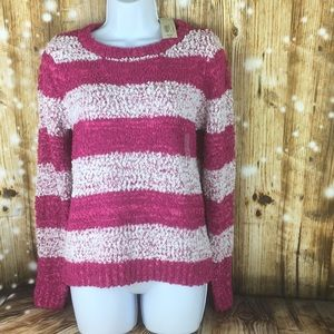 Pink and white sweater by Arizona jeans sz m NWT